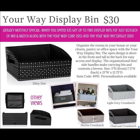 thirty-one Other - Your way display bin